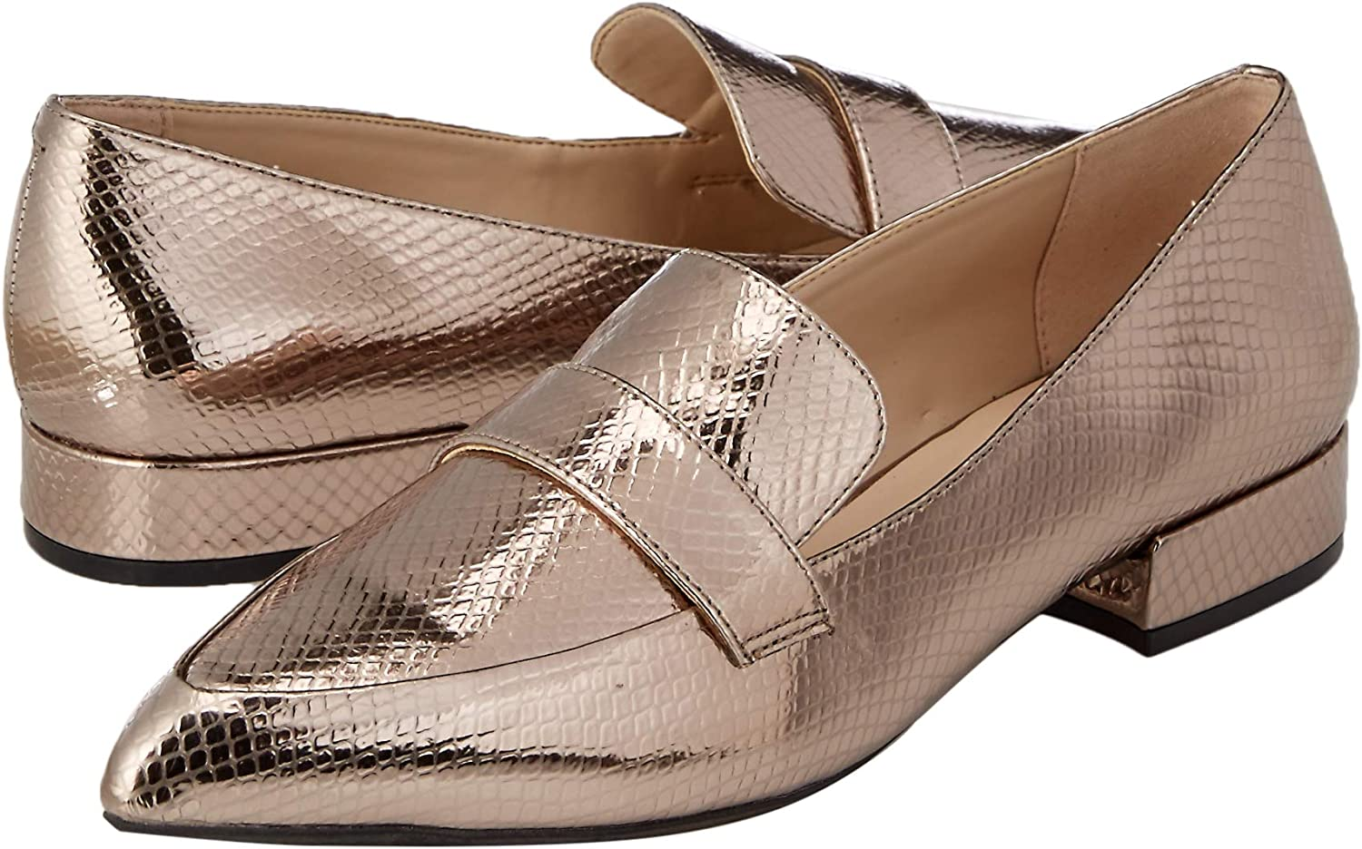 Kenneth Cole New York Womens Camilia 2 Pointy Toe Loafer Flat