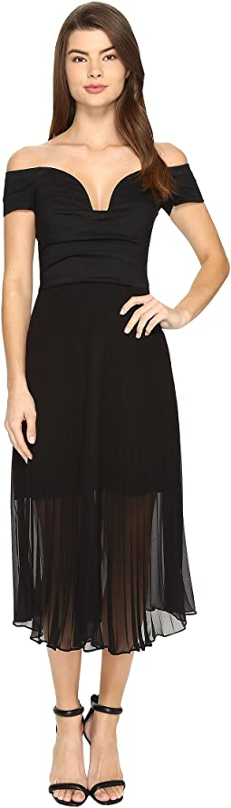Solstice Cotton Metal Combo Party Dress