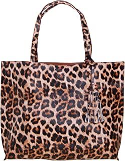 Humble Chic Large Vegan Leather Tote Bag Reversible Shoulder Handbag Tassel Purse