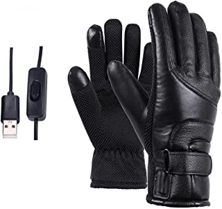 finessci Motorcycle Electric Heated Gloves, Motorcycle Windproof Gloves, Motorcycle Winter Gloves, Warm Heating Gloves USB Powered for Women Men