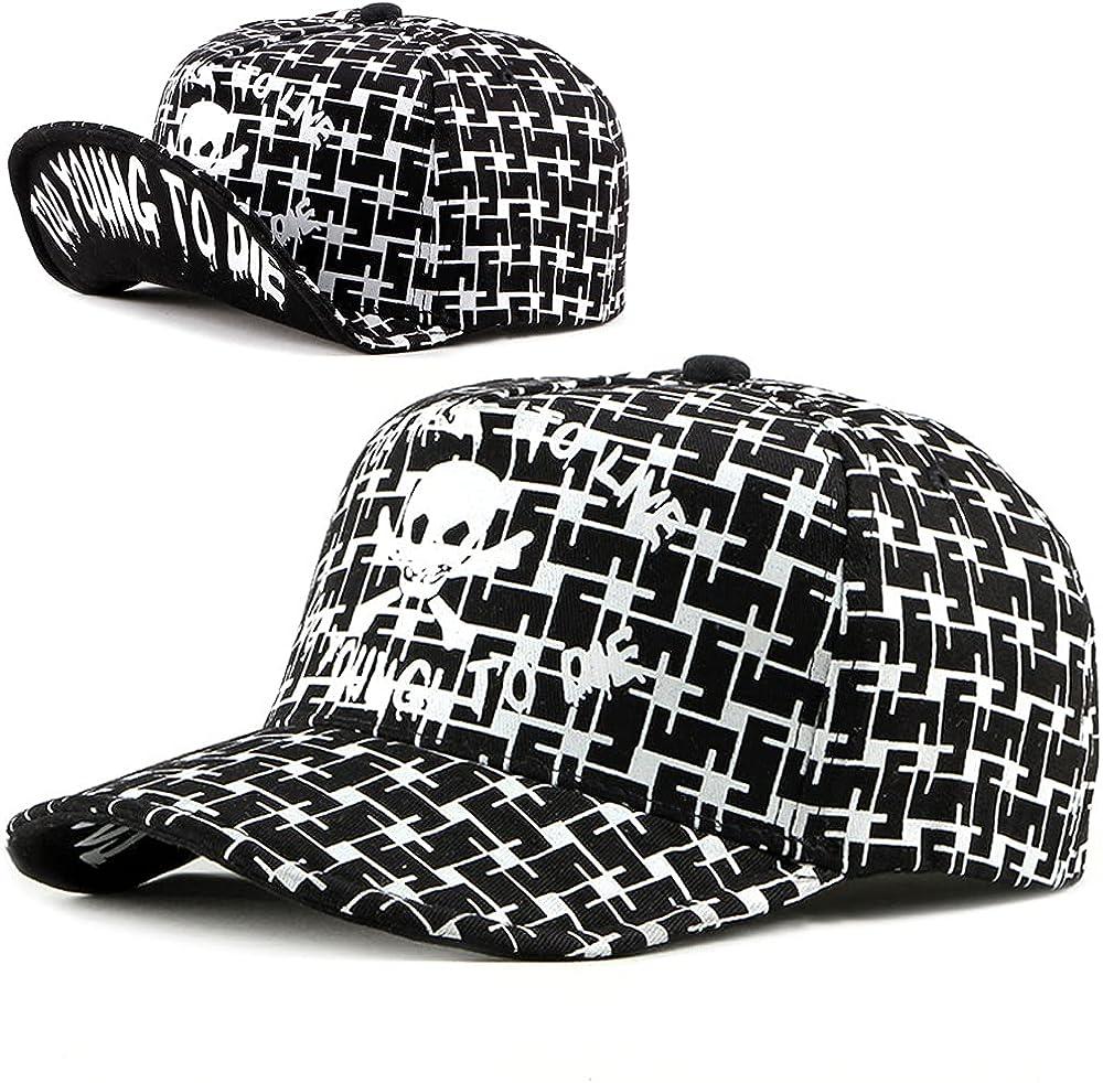 ZffXH Snapback hat Hip hop Skull Baseball Cap Wholesale Lot Adjustable Flip Up Flat Bill deformable Metal Foldable