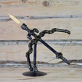 Lampe de Table Lampe de Tuyau de Fer rétro de Style européen Arc et flèche Lampe à Tube en métal Lampe à Vent Industrielle...
