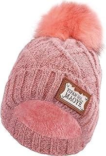Men Women Winter Beanie Hat - Pink Knit Watch Hat, Stocking Skull Cap Skullcap for Guys, CC Ideal Fashion Accessories