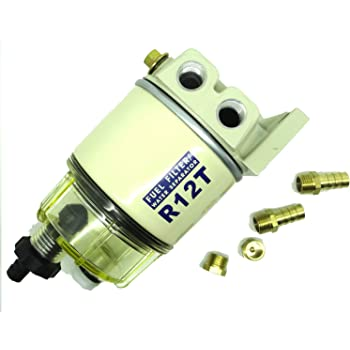 Amazon.com: ConPus R12T Fuel Filter Water Separator 120AT NPT ZG1/4-19  Fitting Complete Combo Filter For Automotive Racor R12T 10 Micron Marine  Diesel Engine 3/8 Inch NPT Outboard Motor Durable Spin-on Housing:  AutomotiveAmazon.com