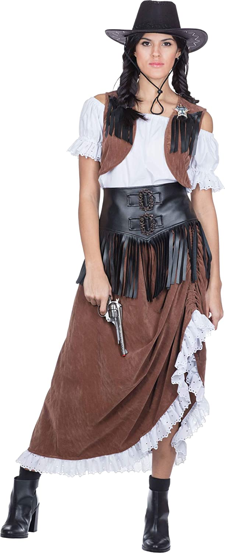 Rubies 13224-36 Western Lady Cowgirl Kost/üm Saloon f/ür Damen Multi-Colored
