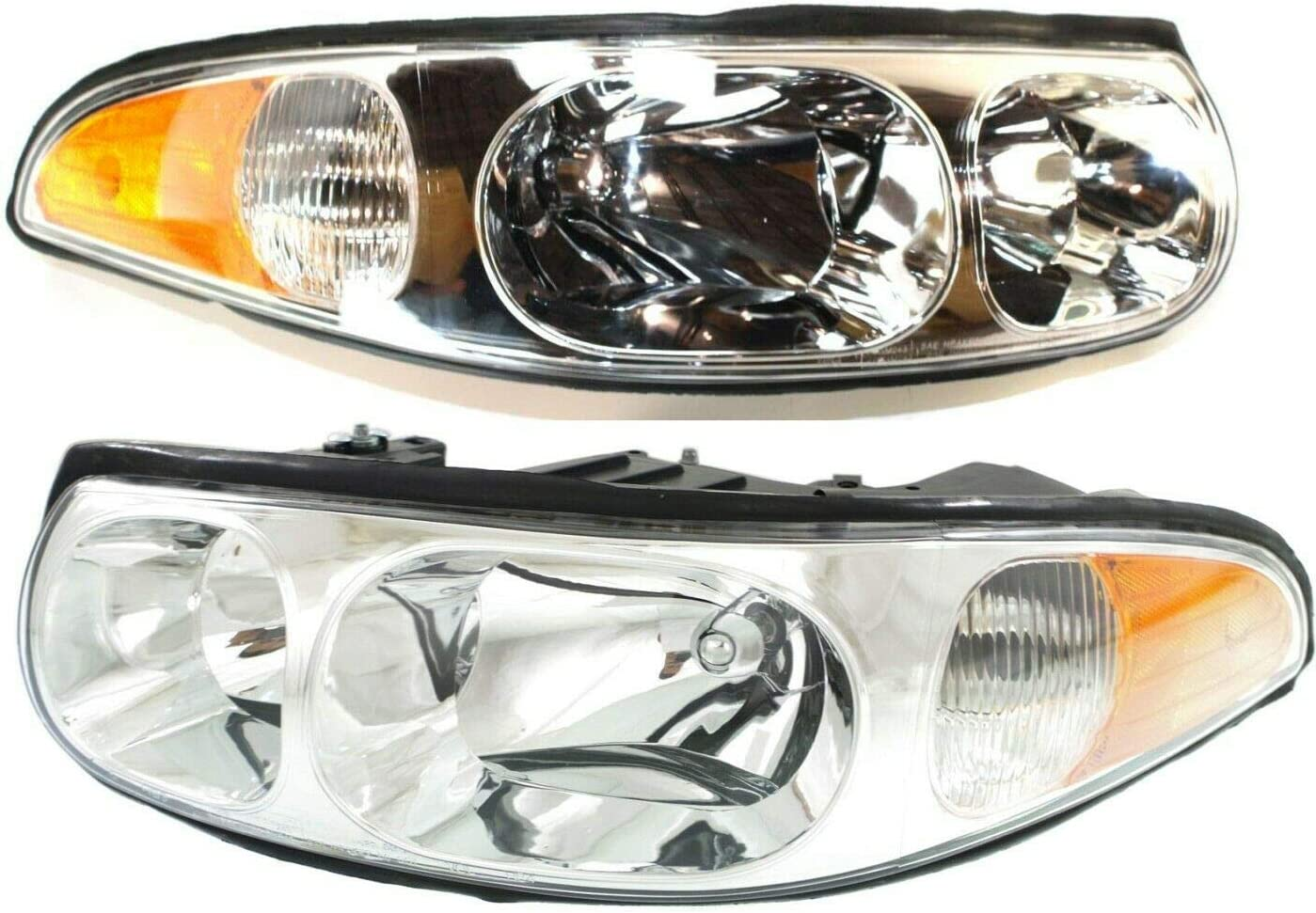 JENCH Headlight Set Compatible New Orleans Mall with Indefinitely Model LeSabre 2000-05 Custom
