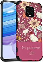 "MOONCASE Redmi 10X Pro 5G Case, Ultra-thin Flowers Pattern Matte Soft Silicone Shell Shockproof Protective Cover Case for Xiaomi Redmi 10X Pro 5G 6.57""- Red"