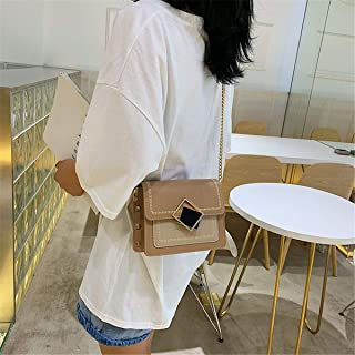 ZZZ Shoulder Bag Small Square Bag Chic Ladies Cover Style Trend Hit Color Messenger Pouch fashion (Color : Khaki)