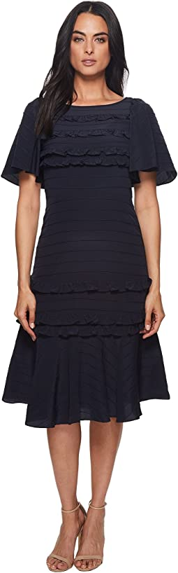 Rebecca Taylor - Short Sleeve Silk & Lace Dress