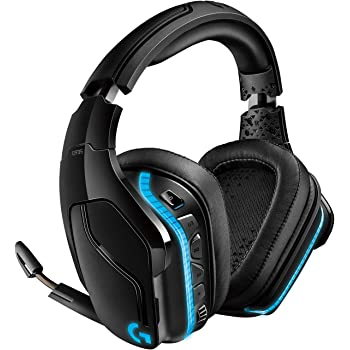 Logitech G935 kabelloses Gaming-Headset mit LIGHTSYNC RGB, 7.1 Surround Sound, DTS Headphone:X 2.0, 50mm Treiber, Flip-Stummschaltung, Wireless Verbindung, PC/Mac/XboxOne/PS4/Nintendo Switch, Schwarz