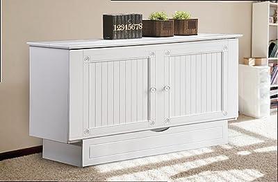 Arason Creden-ZzZ Flip Top Cabinet Bed | Cottage White