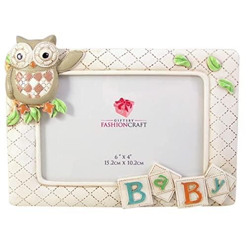 Lillian Rose Picture Frame 4 x 6 Blue Owl