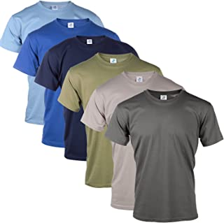 Blu Cherry 3 Pack Or 6 Pack Men's Cotton Regular Fit Round Collar Short Sleeve T-Shirt Top Assorted Multi Pack- Casual Rel...
