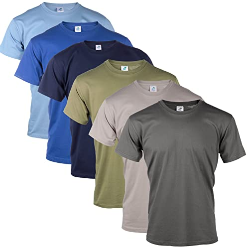 c0bf4267ac3a8 Blu Cherry 3 Pack Or 6 Pack Men s Cotton Regular Fit Round Collar Short  Sleeve T