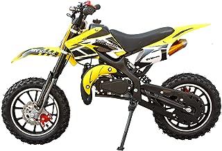 SYX MOTO Kids Mini Dirt Bike Gas Power 2-Stroke 50cc Motorcycle Holeshot Off Road Motorcycle Holeshot Pit Bike, Fully Automatic Transmission, Yellow