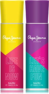 Pepe Jeans London Life Is Now Let's Have Fun Women Body Mist 150ml (Pack Of 2)