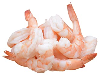 Seafood, Cooked White Shrimp Previously Frozen 31, 1 Pound