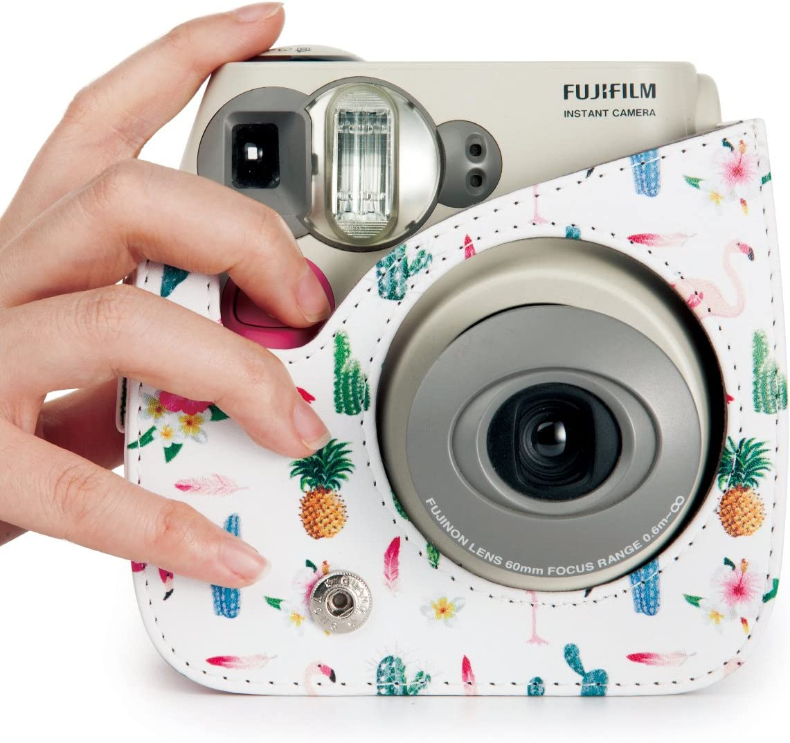 Galaxy, 7 Items CAIUL Compatible Mini 7s Case Bundle with Album Filters /& Accessories for Fujifilm Instax Mini 7s and Polaroid PIC-300 Camera
