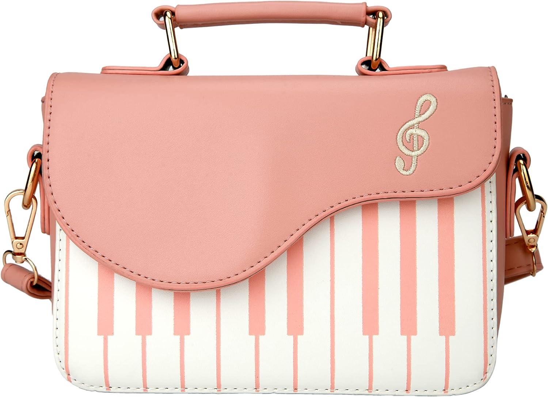 AQING Piano Music Sacramento Max 61% OFF Mall notes PU Leather girl Cro Fashion Shoulder Bag