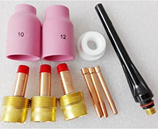 10PCS Accessories Kit (1.6mm/2.4mm/3.2mm) 57N87 57N88 Jumbo Gas Lens Ceramic Cup For TIG Torch Replacement Parts WP17 18 26