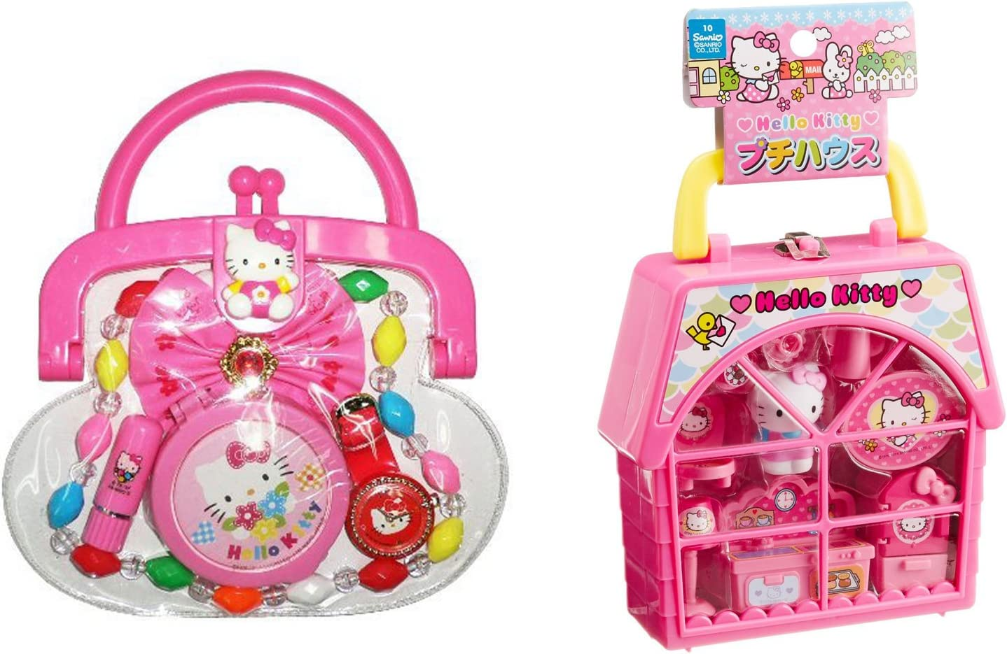 Hello Kitty Popular popular service 2 Portable Toys Bundle - House with Petty Purse and