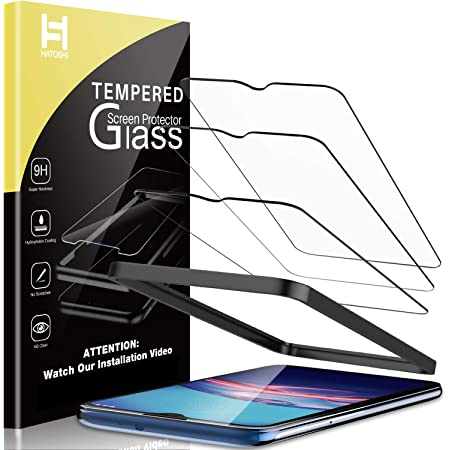 HATOSHI 3 Pack Screen Protector Compatible for Motorola Moto E 2020 Tempered Glass, Alignment Tray Easy Installation HD Clear Case Friendly Glass Screen Cover for Moto E 2020 6.2 inches