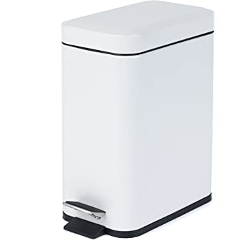 Blanco Tatay 1101201 Cubo de Basura Cocina con Apertura a Pedal 25 l de Capacidad pl/ástico Polipropileno 33,5 x 31 x 42 cm