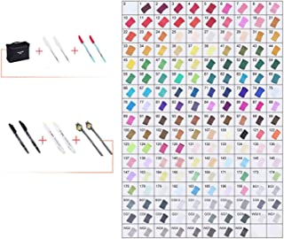60/80/168 Colors Markers Set Manga Drawing Markers Pen Alcohol Based Sketch Felt- Tip Oily Twin Brush Pen Art Supplies