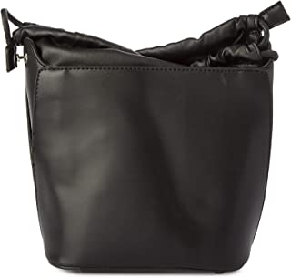 Lenz Bucket Bag For Women, Leather, Black - S18-B002