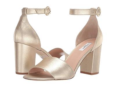 L.K. Bennett Hester Block Heel (Soft Gold) High Heels