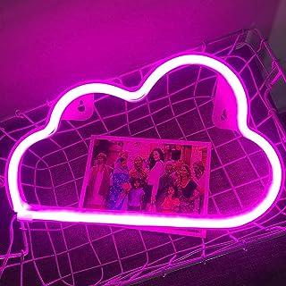 Led Wolke, Batterie oder USB Betrieben neon lichter Neon Schild, Led Niedliches Wolken Neonlicht für Schlafzimmer, Kinderz...