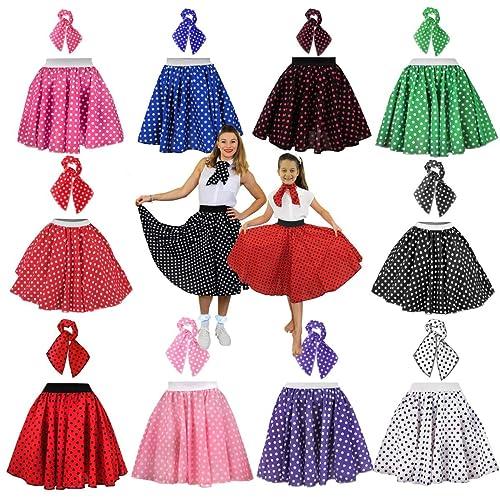 Womens Vintage 1950/'s Rockabilly Swing Rock Roll Swan Print Dance Skirt Dress