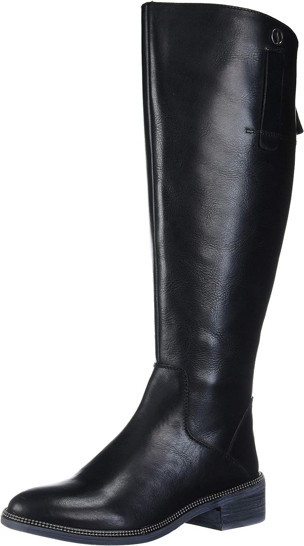 Franco Sarto Women's Becky Knee High Boot, Black Wide Calf