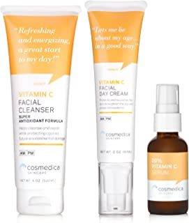 Super Vitamin C Kit - Vitamin C Super Serum, Vitamin C Facial Cleanser, Vitamin C Moisturizer 15%