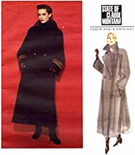 1990s Claude Montana Double Breasted Coat Vogue 1253 Paris Original Sewing Pattern Full Figure Size 20 - 22 - 24