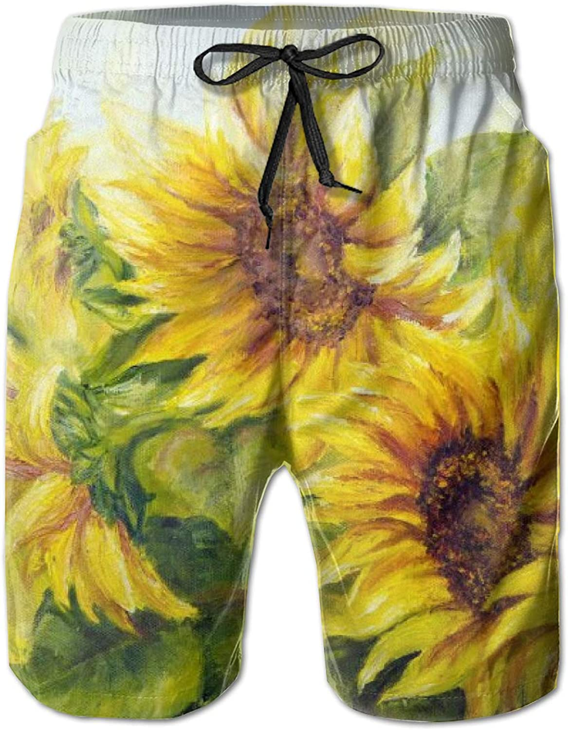 Linxher Bright Yellow Sunny Sunflowers Floral Floral Floral