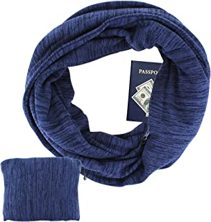 Women Convertible Infinity Scarf with Hidden Pocket, Folds Into Clutch, Relax Your Hand