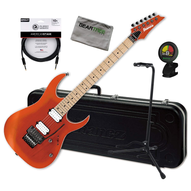 Cheap Ibanez RG652AHMS OMF Orange Flat Prestige Electric Guitar Bundle w/Case Stand Black Friday & Cyber Monday 2019