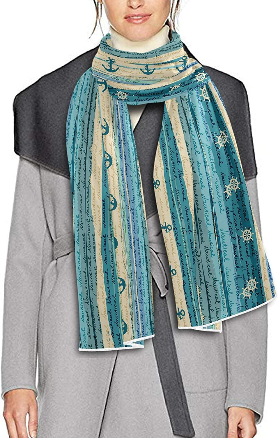 Scarf for Women and Men Nautical Blanket Shawl Scarf wraps Warm soft Winter Oversized Scarves Lightweight
