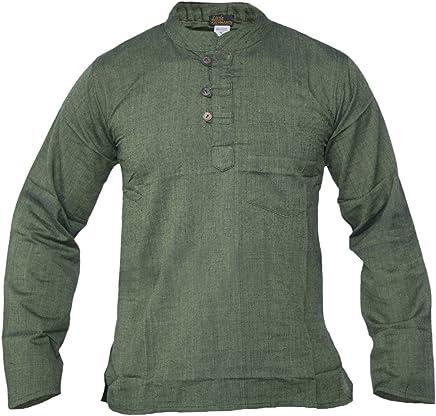 LITTLE KATHMANDU Grandad, diseño Hombre de algodón luz Festival Verano Camisas Tops Kurtas