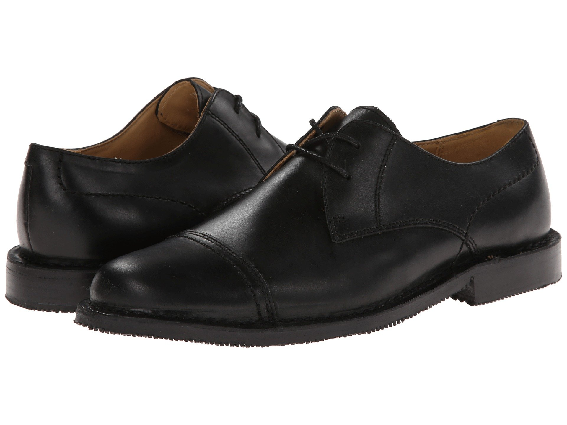 New Sebago Metro Cap Toe Men's Lace Up Cap Toe Shoes, Black Leather
