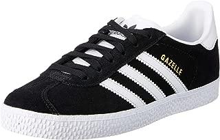 adidas, Gazelle Shoes, Kids Shoes, Black/White/Gold Metallic, 1 US