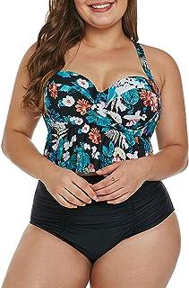 70a41301e1 Uniarmoire Womens Plus Size High Waist Fringe Swimwear Two Piece Swimsuit