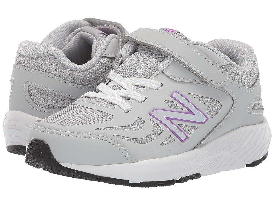 New Balance Kids 519v1 (Infant/Toddler) (Light Aluminum/Voltage Violet) Girls Shoes