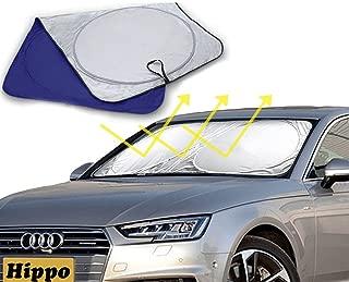 35/x63.3, 160/x 90/cm Taille ou argent pare-brise Protection solaire voiture v/éhicule refroidissement halten Protection UV Marquise Hippo Protection solaire de protection d/ét/é