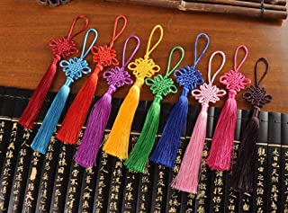 zhangwei Ornaments Pendant Feng Shui Lucky Coin Car Hanging Handmade Chinese Knot Tassel Gourd Copper