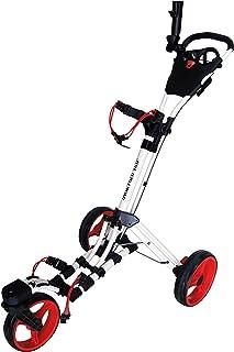 Qwik-Fold 360 چرخ دستی 3 چرخ دستی فشار گلف را بکشید - 360 چرخ جلو چرخان - یک ثانیه برای باز و بسته شدن!