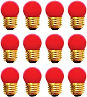 12 Qty. Halco 7.5W S11 Red Med 130V Halco S11RED7.5C 7.5w