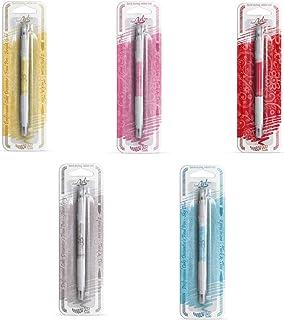 Pack de 5 bolígrafos comestibles de Rainbow Dust,100% comestible de doble punta, gruesa y fina (ORO BRILLANTE, ROSA, ROJO, GRIS PLATEADO, AZUL CIELO)