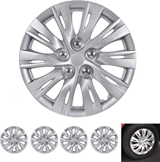 BDK Wheel Guards – (4 Pack) Hubcaps for Car Accessories Wheel Covers Snap Clip-On Auto Tire Rim Replacement for 16 inch Wh...